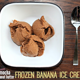 Mocha Peanut Butter Frozen Banana Ice Cream