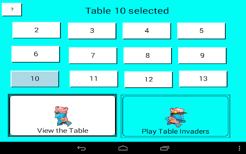 TableInvaders1.1 - screenshot