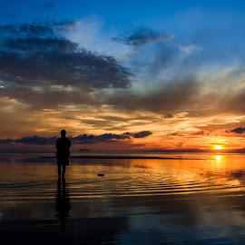 Sunrise  by Pedz Fuertes - Landscapes Beaches ( clouds, sunrise, beach, landscape,  )