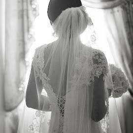 Bride 3137 by Keith Darmanin - Wedding Bride ( black and white, getting ready, etienne farrell, photography, noir, girl, sweet, bridal, sweet  light, malta, maxlene, dress, keith darmanin, bride, flowers )