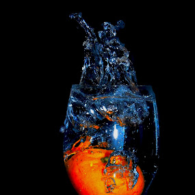 Splashing Orange by Amitaesh Theva - Artistic Objects Other Objects