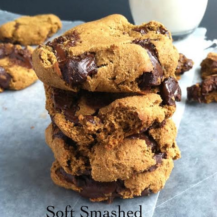 Soft Smashed Chocolate Chunk Cookies Vegan GF Soy Free Refined Sugar ...