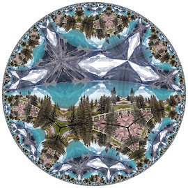 Lake Louise by Bruce Feldmeyer - Illustration Places ( circular, mountain, lake )