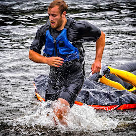 A winner? by Roar & Monika Sæthre - Sports & Fitness Watersports ( water, contest, em10, show, rafting, padling, olympus )