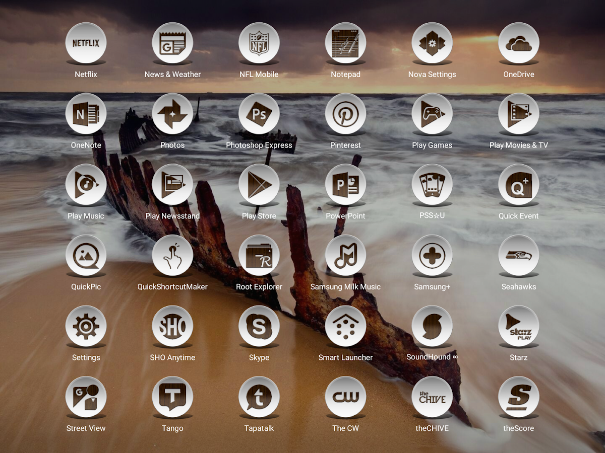 Daf Dark Wood - Icon Pack Screenshot 11