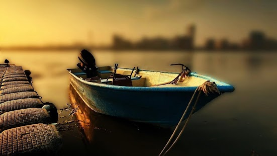 Fishing boats. Live wallpapers - screenshot