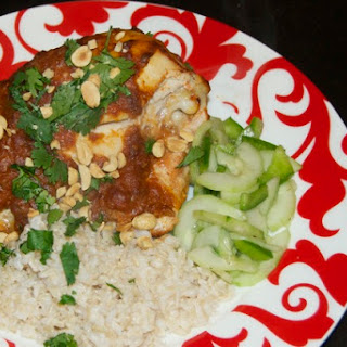 Thai Peanut Chicken with Coconut Rice