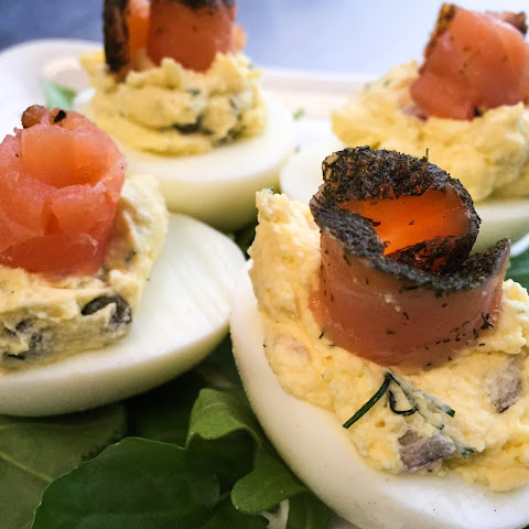 The Best Smoked Salmon Deviled Eggs Recipe | Yummly