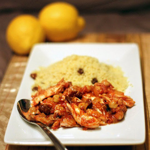 Mediterranean Chicken Stew with Cinnamon Couscous