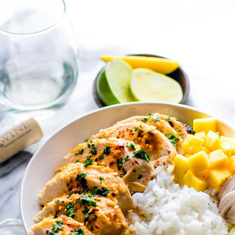 Chili Lime Mango Marinated Chicken Bowls {Gluten Free, Healthy, Dairy Free}