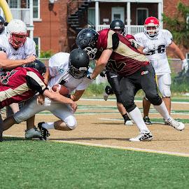 The QB Touchdown ! by Sebastien Dunn - Sports & Fitness American and Canadian football ( football, summer, sport, touché, ballon )