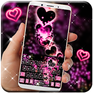 Sparkling Love Keyboard Theme