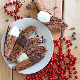Chocolate Biscotti with Cinnamon and Cocoa Nibs