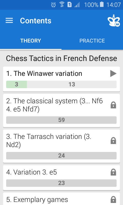 Chess Tactics in French Def Screenshot 1