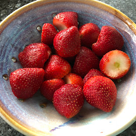 Summer Strawberries by Michiale Schneider - Food & Drink Fruits & Vegetables ( red, fruit, strawberries, bowl, berries, food )