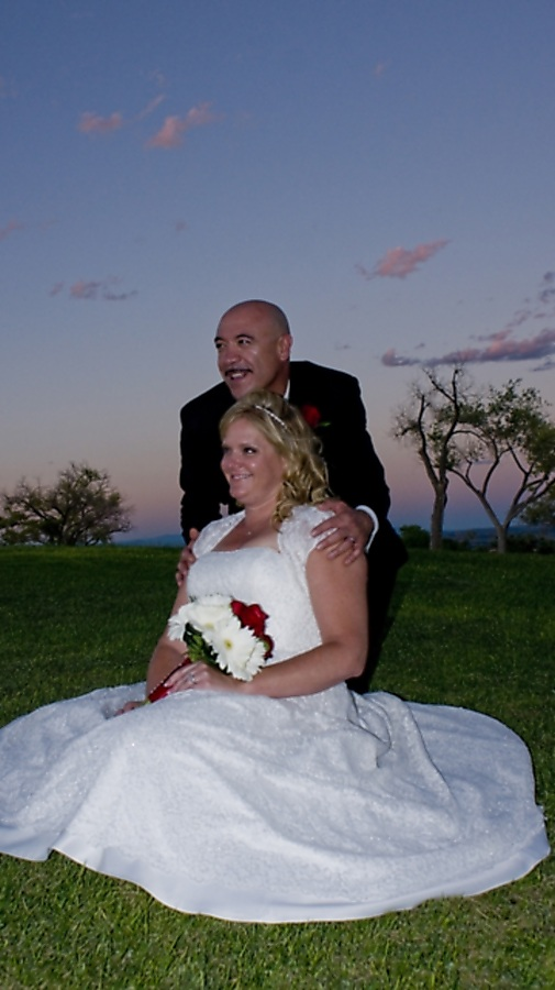 Love at Dusk by Larry Stewart - Wedding Bride & Groom ( bride, dusk, groom )