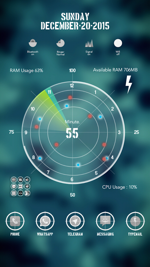 Radar Theme Total Launcher Screenshot 0