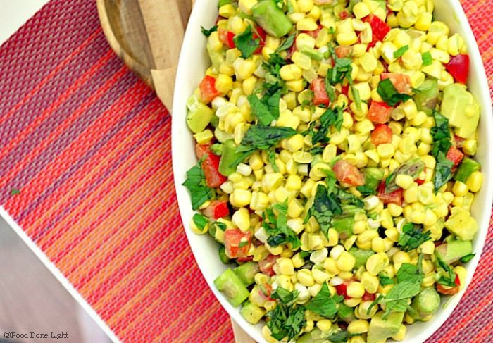 Corn, Tomato and Avocado Salad with Cilantro Vinaigrette Recipe ...