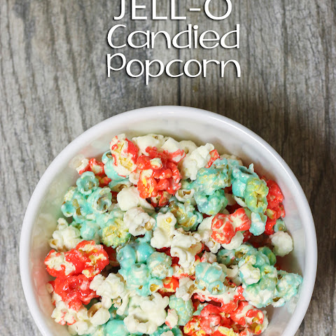 Red, White & Blue Candied Popcorn- 4th of July