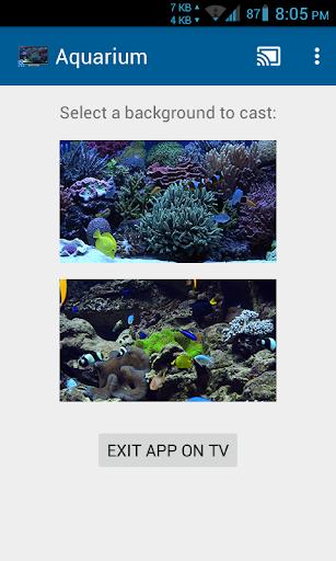 Aquariums on TV via Chromecast - screenshot