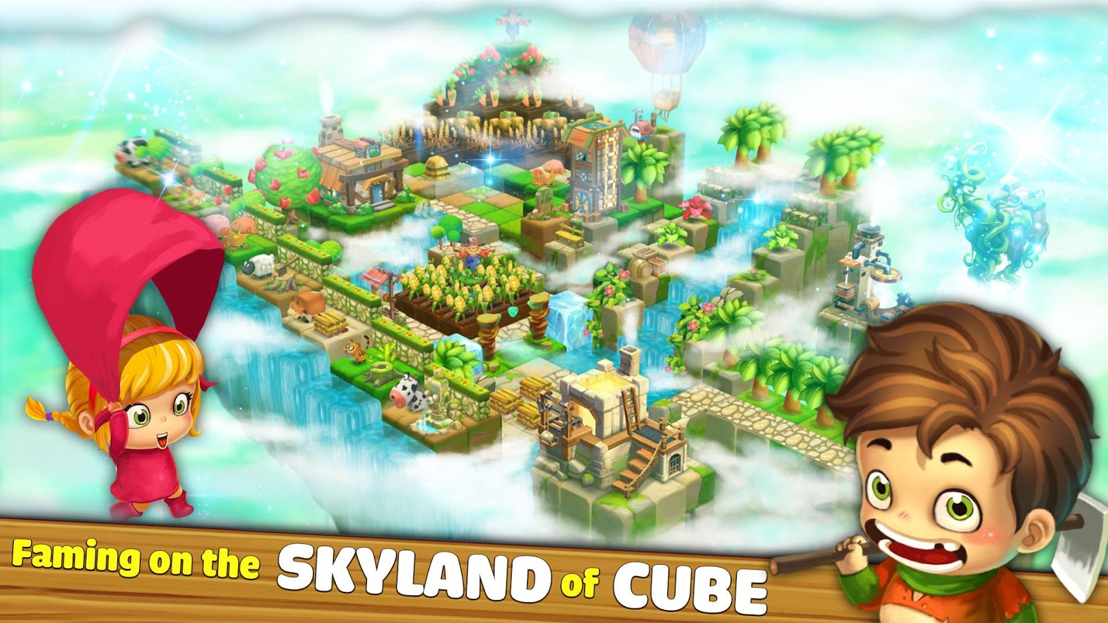 Cube Skyland: Farm Craft Screenshot 0