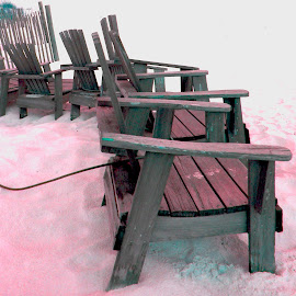 by Melissa Turner - Digital Art Things ( outdoor photography, chairs, beach, digital photography )