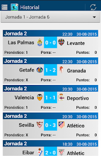 Porra Liga 2015 - 2016 Screenshot