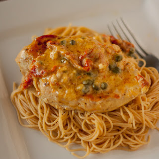 Creamy Garlic Vermouth Chicken with Capers