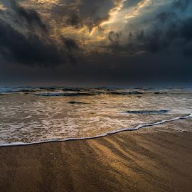 Golden Hour by Abhishek Dey - Landscapes Beaches ( sunset, sea, seascape, beach,  )