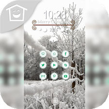 Bright scenery sky snow theme