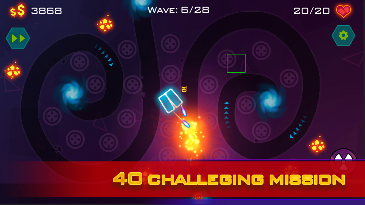 Tower Defense: Geometry War Screenshot 2