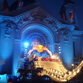 Crashed Ice 2016 by Scott Valenzuela - Novices Only Sports ( minnesota, builkding, sports, night, crashed ice )