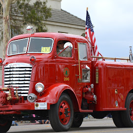 CDF E 296 by Jesse Thrush - Transportation Automobiles ( firefighter, engine, truck, cal fire, antique, fire, cdf )