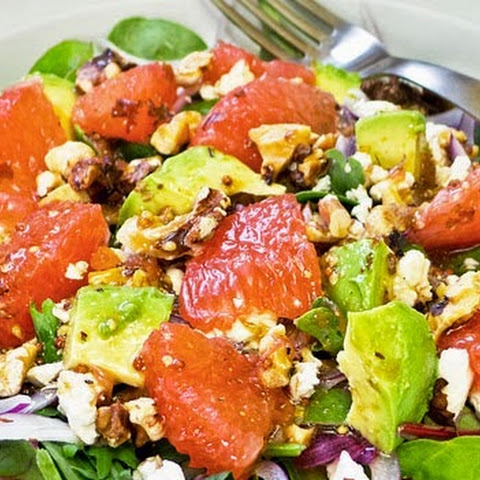 Salad with Pink Grapefruit & Avocado