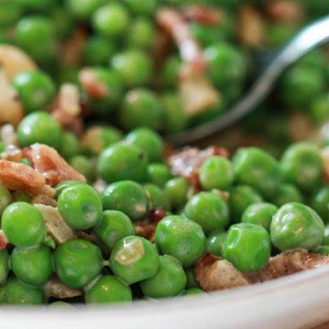 English Peas with Bacon and Crème Fraiche