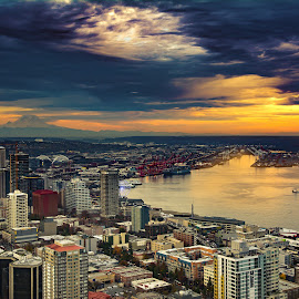 Sleepless In Seattle  by Naveed Hassan - City,  Street & Park  Skylines