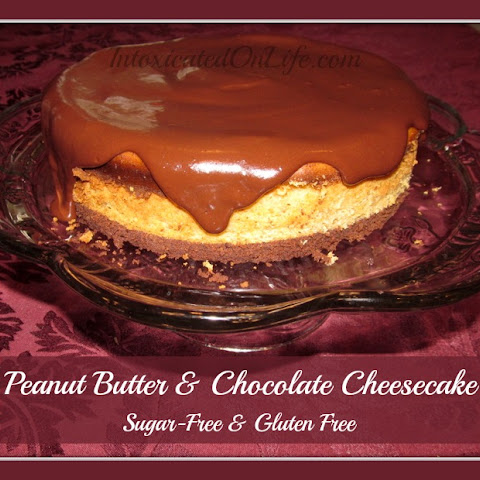 Peanut Butter & Chocolate Cheesecake (sugar-free and gluten-free)