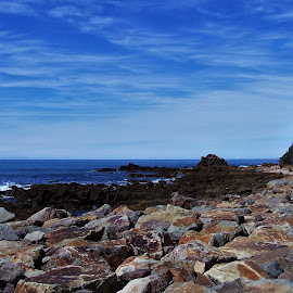 Mallacoota by Sarah Harding - Novices Only Landscapes ( novices only, summer, sea, landscape, rocks )