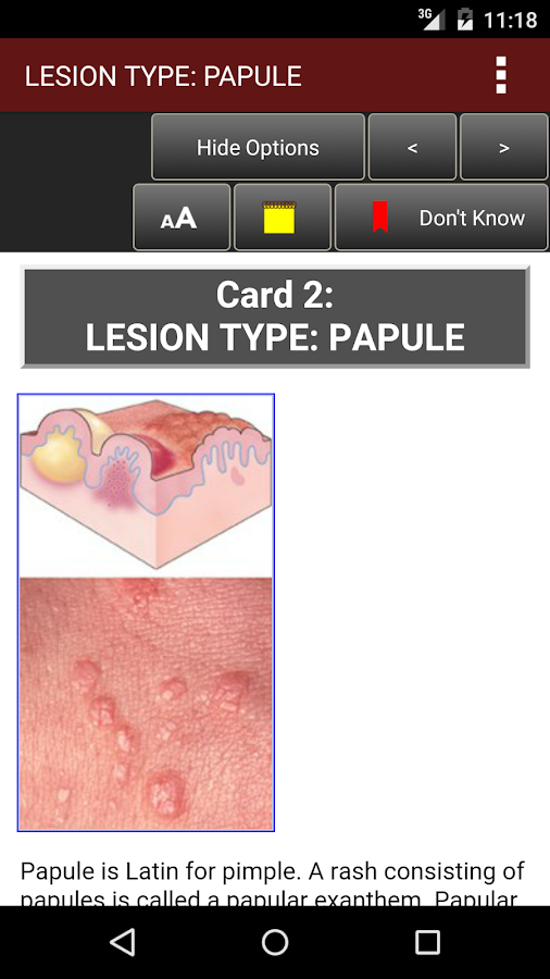 Fitzpatrick's Derm Flash Cards Screenshot 2