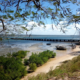 Inhambane Pier by Ioana Husar - Novices Only Landscapes ( inhambane, pier, mozambique, ocean, boat )