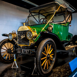 'The Tin Lizzie', 'The Flivver', 'The Model T by Petrica Manzala - Transportation Automobiles ( car, old, vintage, green, ford )