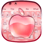 Rose Gold Crystal Apple Icon