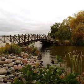 Bridge by Marina Erkenius - Buildings & Architecture Bridges & Suspended Structures ( sweden, autumn, lake, bridge )