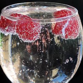 raspberry in the glass by LADOCKi Elvira - Food & Drink Fruits & Vegetables