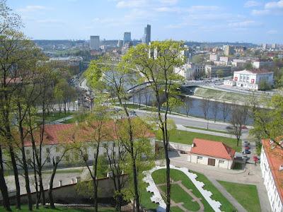 Панорама Вильнюса с Замковой горы
