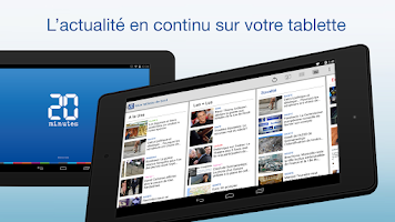 Screenshot of 20 Minutes pour Tablette