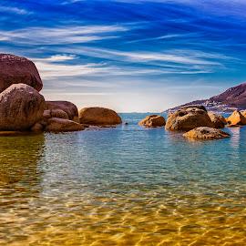 Cosy bay by Crighton Klassen - Landscapes Beaches ( sky, sunny, beach, rocks, cape town )