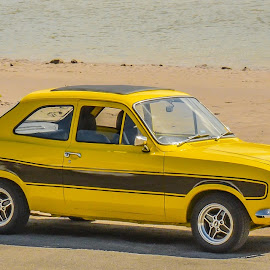 Ford Escort Mexico by Janet Packham - Transportation Automobiles ( mexico, escort, yellow, ford, classic )