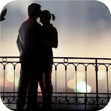 Romantic silhouette. Wallpaper