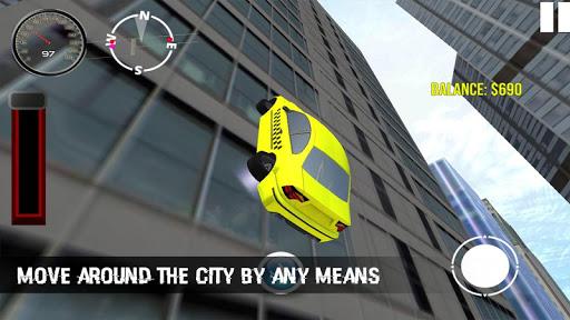 Futuristic Flying Taxi Driving - screenshot